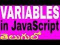 Variables In JavaScript in Telugu