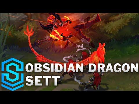 Obsidian Dragon Sett Skin Spotlight - League of Legends