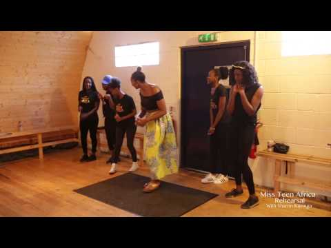 Miss Teen Africa UK first rehearsal