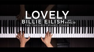 Billie Eilish ft. Khalid - Lovely | The Theorist Piano Cover thumbnail