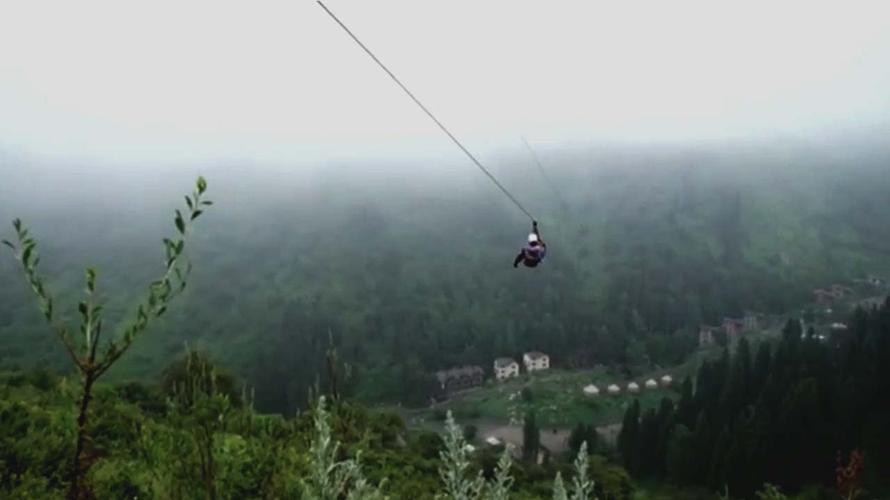 This zip line in Kazakhstan is Asia\'s longest, can you ride it ...