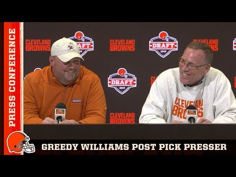 Freddie Kitchens & John Dorsey | Greedy Williams Post Pick Press Conference | Cleveland Browns