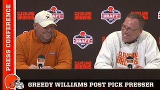 Freddie Kitchens & John Dorsey | Greedy Williams Post Pick Press Conference | Cleveland Browns