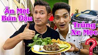 MẠC VĂN KHOA phục vụ Huy Khánh món BÚN ĐẬU MẮM TÔM vừa Khai Trương | Huy Khánh Vê Lốc