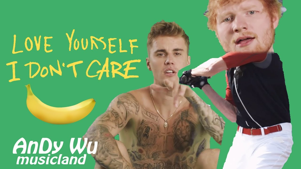 ED SHEERAN, JUSTIN BIEBER - I Don't Care / Love Yourself - YouTube