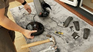 How to replace a Ninebot Segway ES1 ES2 ES4 Front Wheel Moter (UK English)