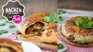 Tortano - italienischer Pizzakranz mit Spinat | Backen mit Globus & Sallys Welt #55