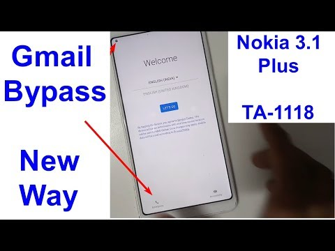 Nokia 3.1Plus TA 1118 Frp And Gmail Bypass, Gmail Lock New Trick