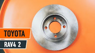 How to replace Brake pad set on TOYOTA RAV 4 II (CLA2_, XA2_, ZCA2_, ACA2_) - video tutorial