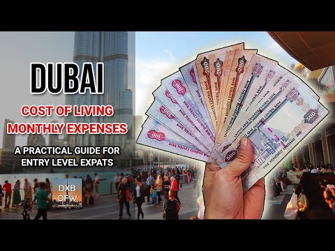 Real Cost Of Living Expenses In Dubai UAE For Entry-Level Expats & OFWs | How Much Salary Is Needed?