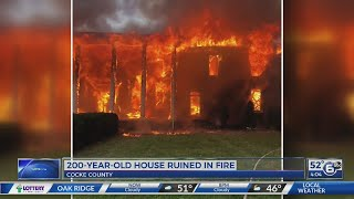 200-year-old house lost in fire