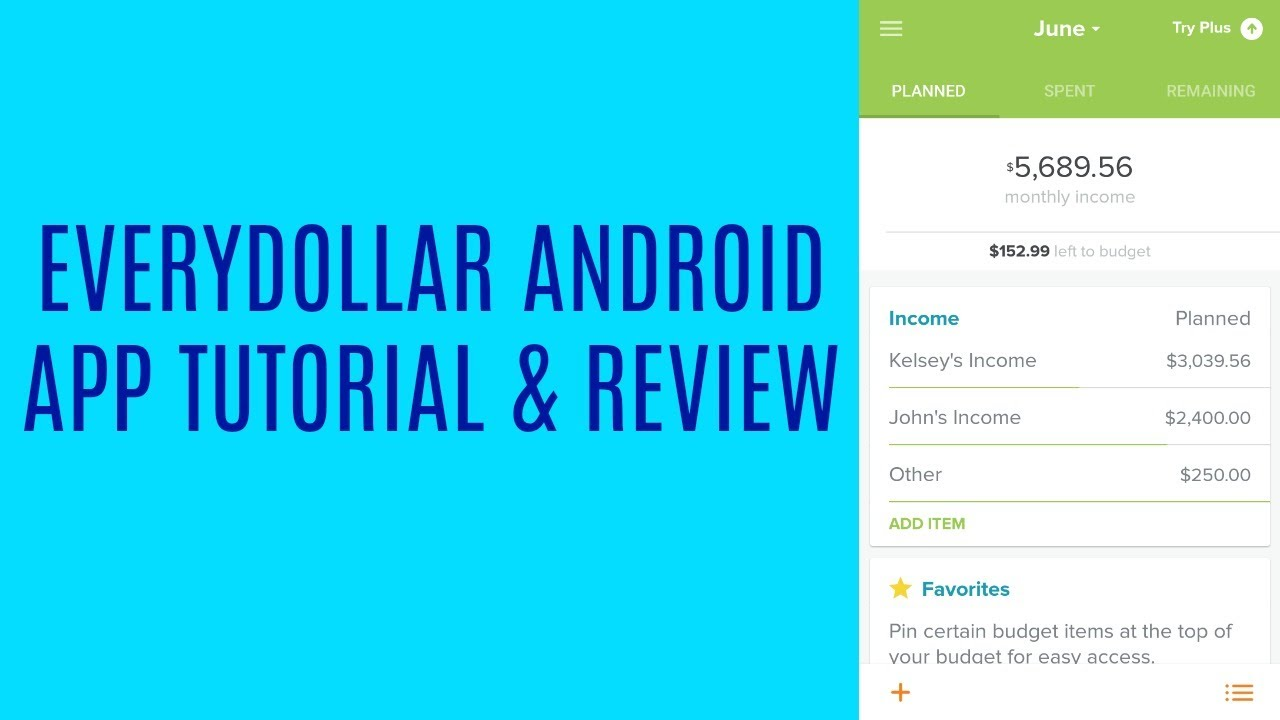 Everydollar Android Mini Tutorial Review