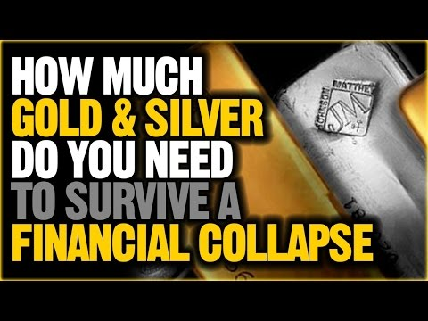 HOW MUCH GOLD SILVER DO YOU NEED TO SURVIVE A FINANCIAL COLLAPSE (NEW)