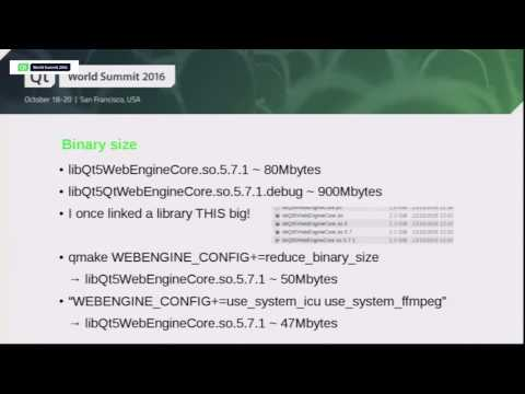 QtWS16- New Possibilities with Qt WebEngine, Allan Sandaled