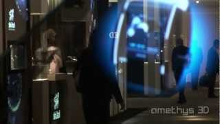 amethys baselworld 2011 hd3 slyde watch snapshot holographic display multitouch display