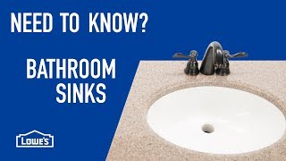 Need to Know? Bathroom Sinks