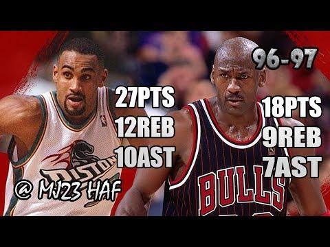 dfde5eb1493a57 Michael Jordan vs Grant Hill HOF DUEL Highlights (1997.04.13) - 45pts  Combine