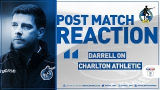 Reaction: Darrell on Charlton