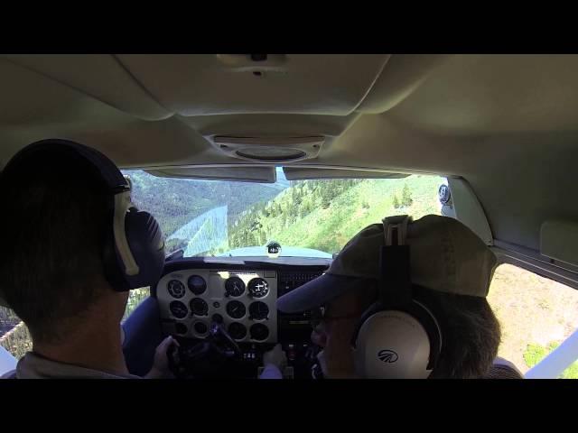 Landing at Warm Springs Grass Strip Idaho 0U1