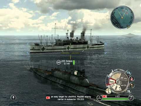 Battlestations: Pacific. Japanese campaign. Mission 6. Hunt for the USS Hornet