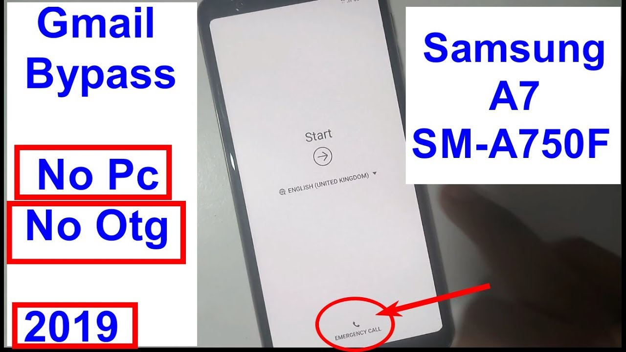 Samsung Galaxy A7 SM A750F Google Account Verification And Gmail Frp Reset