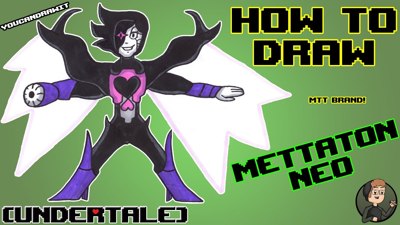 How To Draw Mettaton Neo From Undertale Youcandrawit ツ