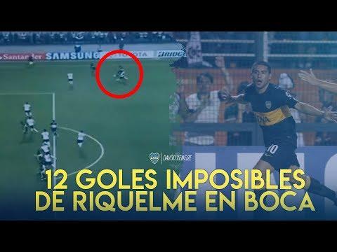 12 Goals Impossible of Juan Roman Riquelme in Boca