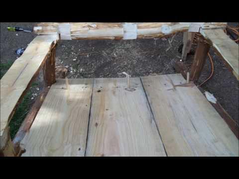 Pine Log Adirondack Chair