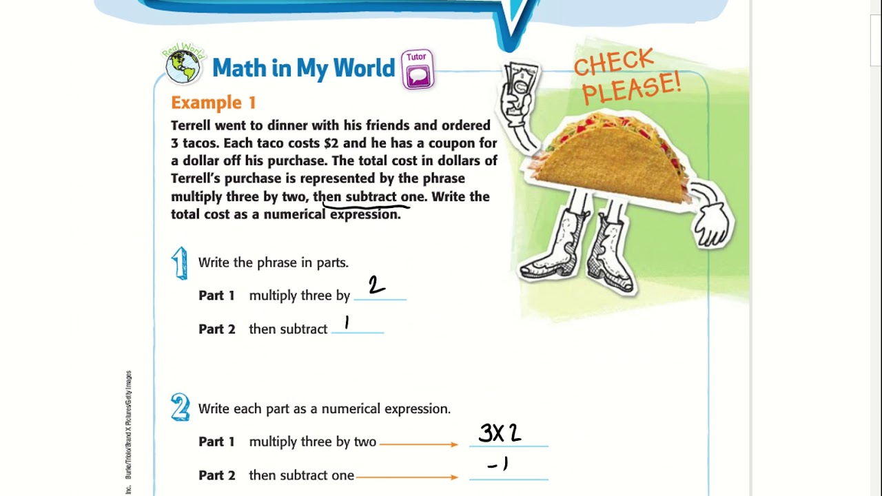 5th Grade Chapter 7 Lesson 3: Write Expressions