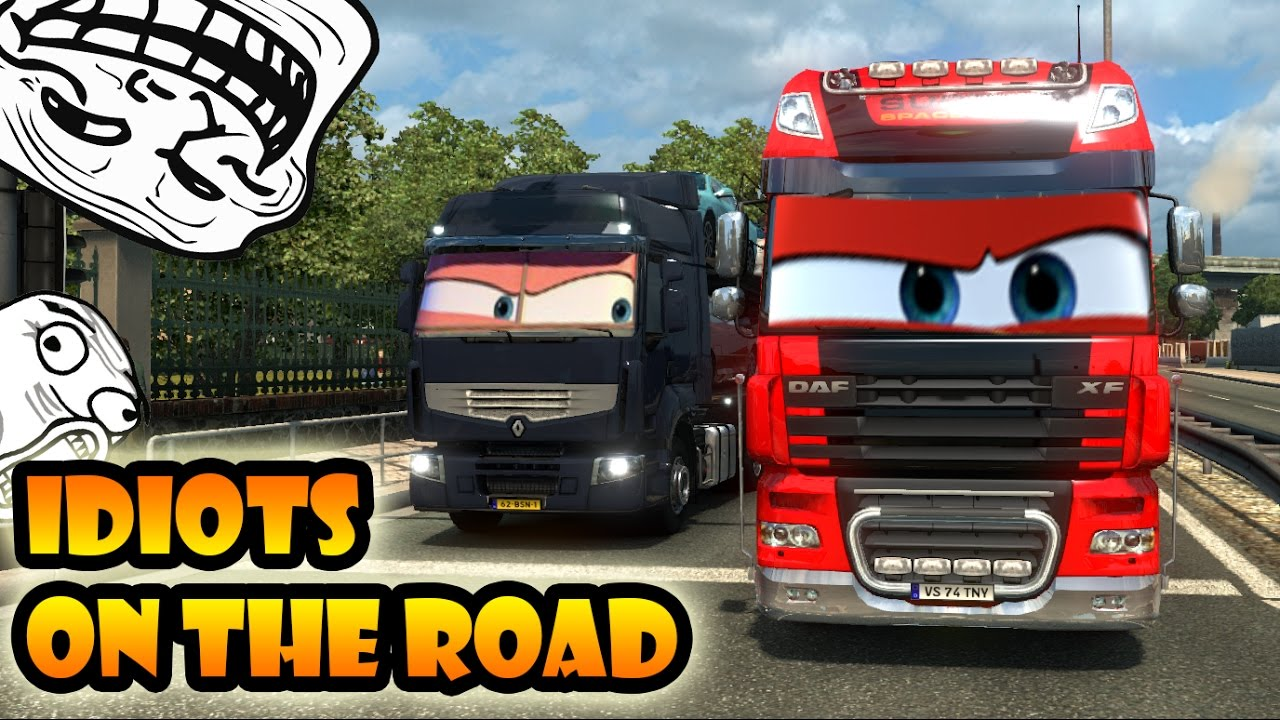 idiots on the road 10 ets2mp funny moments euro. Black Bedroom Furniture Sets. Home Design Ideas