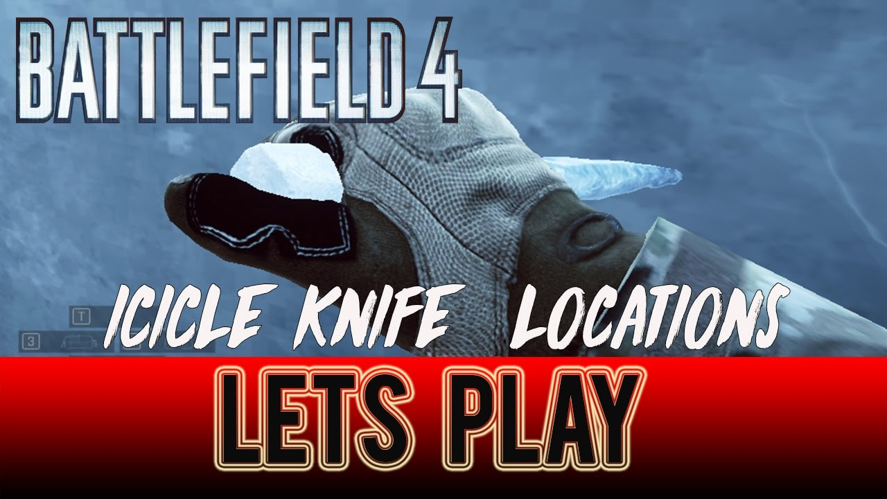 bf4 icicle knife where to find them 2 locations youtube