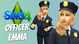 OFFICER EMMA - Sims 4 Get to Work Detective - The Sims 4 Funny Highlights #26