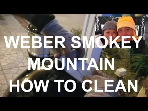 Weber Smokey Mountain How-To Clean by BBQ Grand Champion Pitmaster Harry Soo SlapYoDaddyBBQ Barbeque