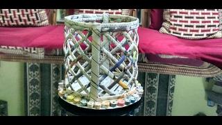 How to make a newspaper basket (ROUND)