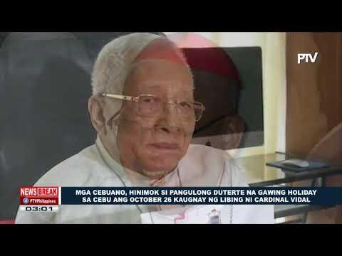 Mga Cebuano, hinimok si Pres. Duterte na gawing holiday sa Cebu ang October 26