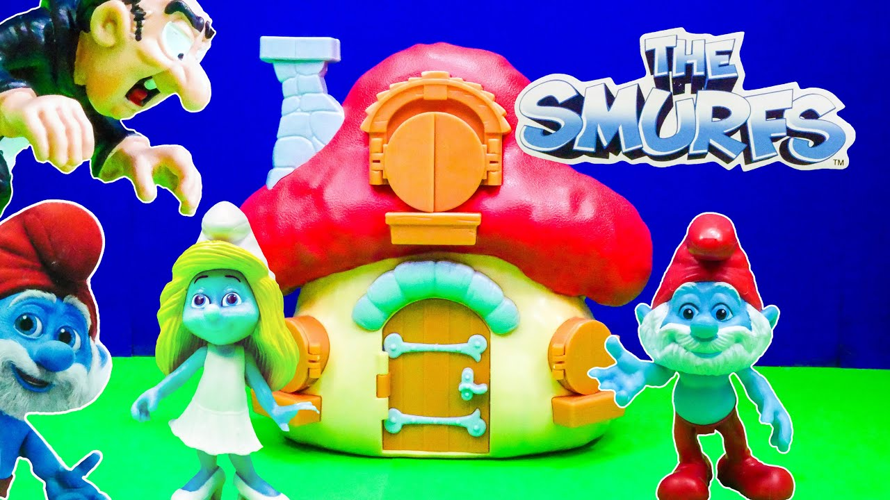 Unboxing the Papa Smurf House a Schtroumpfs Toy Playset ...