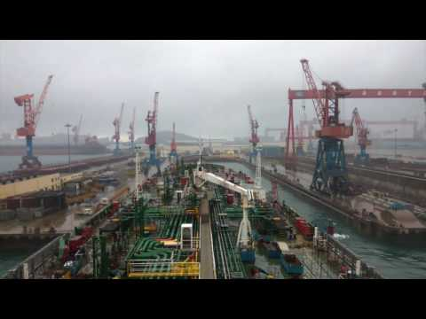 Time Lapse of a Vessel Shifting between Berths and Dry Docks
