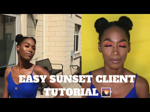 BEGINNER FRIENDLY SUNSET MAKEUP CLIENT TUTORIAL | ITSBROWNIEDUHHH thumbnail