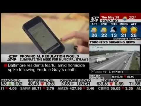 CP24 Clip - Motion supporting transportation network companies