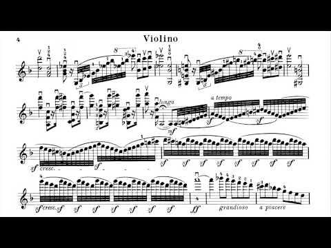 Henri Vieuxtemps - Violin Concerto No.4 in D Minor, Op.31 (full with solo violin score)