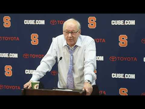 Jim Boeheim postgame news conference after Syracuse basketball vs. Cornell  (2018)