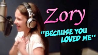 Video Because You Loved Me - Celine Dion (cover)  |  ZORY download MP3, 3GP, MP4, WEBM, AVI, FLV Juli 2018