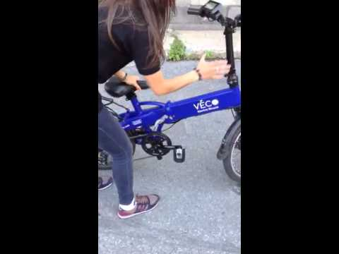 FOLDING OF VECO ELECTRIC BICYCLE DEVILLE + TEMPORARY VIDEO