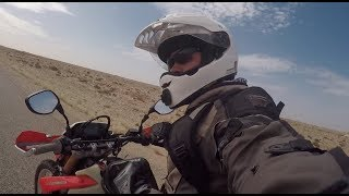 Riding a Motorcycle in the Sahara Desert!