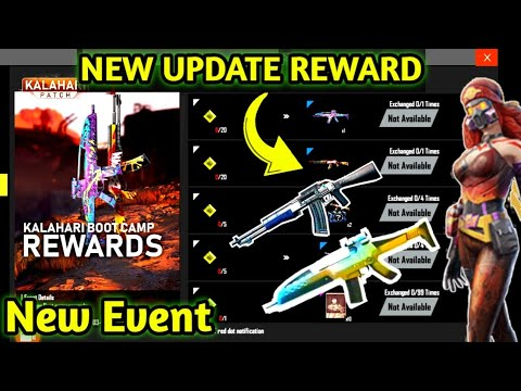 "Free Fire New Update  ""Kalahari Patch"" New Event || Free Permanent Gun Skin ,Dress || Gaming boost"