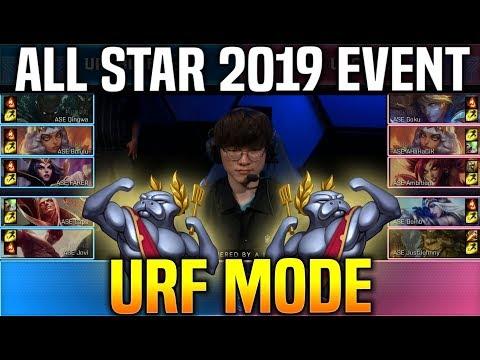TEAM URF A Vs TEAM URF B - URF MODE SHOWMATCH - LOL All Star 2019 Day 1