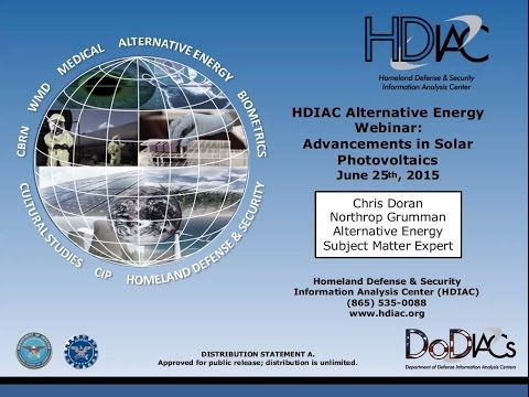 HDIAC Alternative Energy Webinar