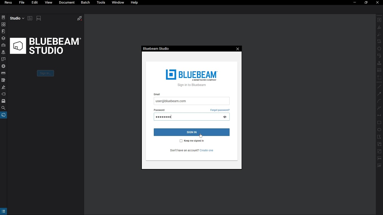 Revu 2018 | Studio Basics and Log In – Getting Started with