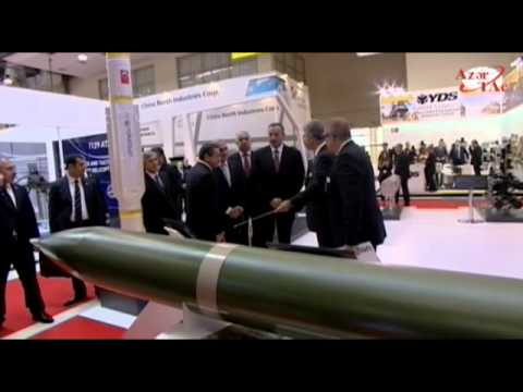 President Ilham Aliyev visited the first Azerbaijan International Defense Industry Exhibition