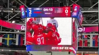 2й гол Сборной России на четвертьфинале 23 мая с трибуны Россия США 43 ЧМ 19 Братислава